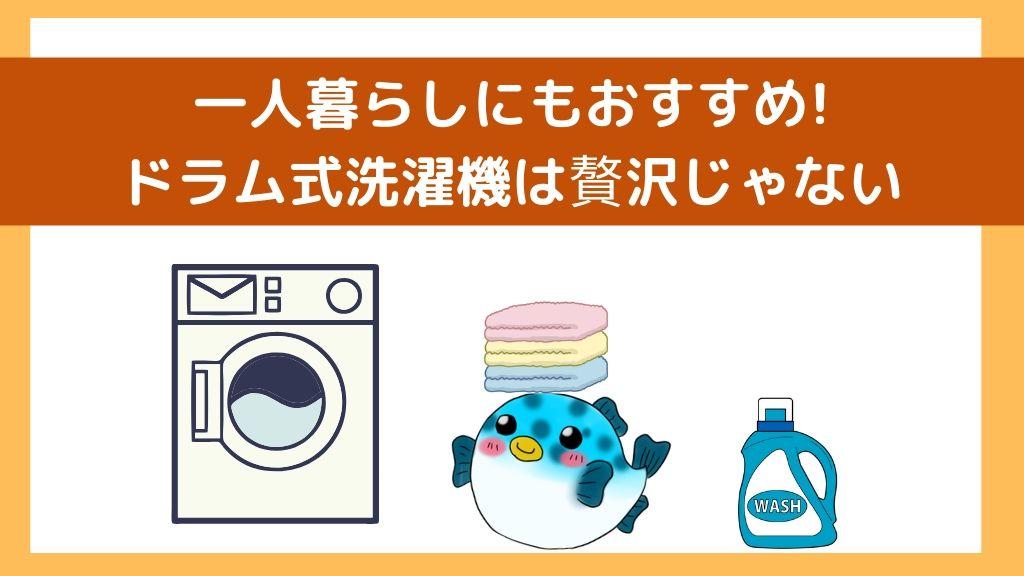 【一人暮らし】ドラム型洗濯機を買うべき7つの理由